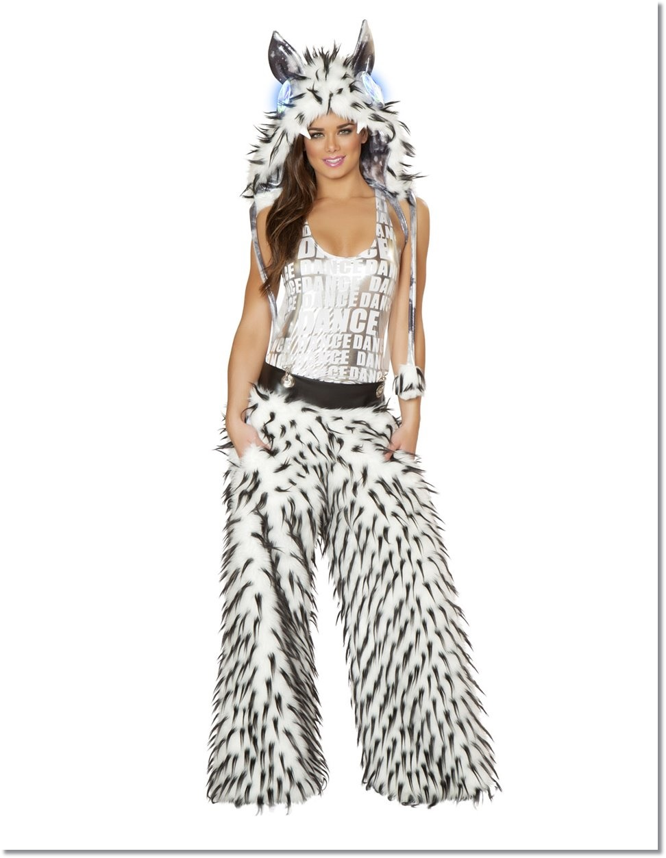 white-spike-faux-fur-pant-with-pockets-and-suspenders-fully-lined