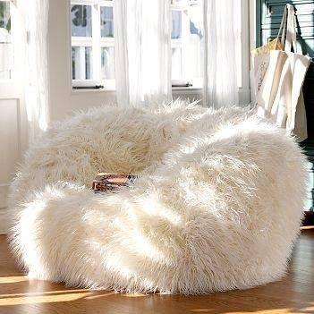 pouf chair faux fur efutro (8)