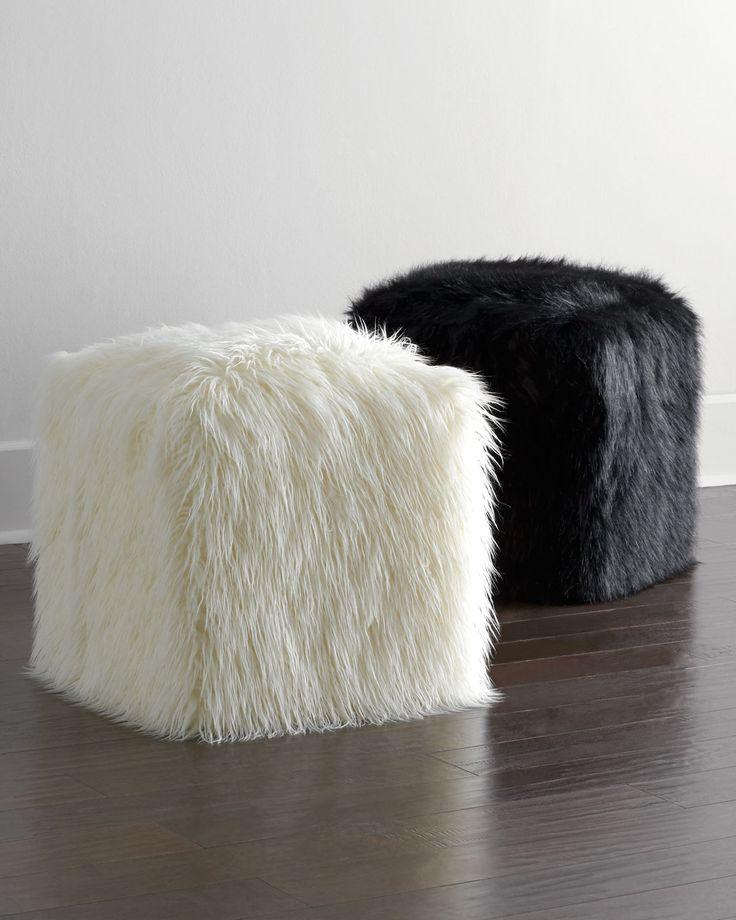 pouf chair faux fur efutro (9)